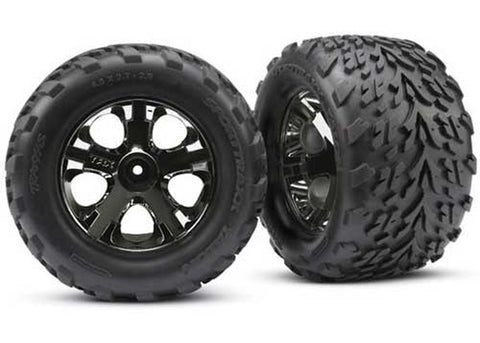 "Traxxas Talon Tires, All-Star 2.8"" Wheels, Black Chrome, 3669A"
