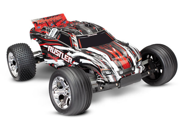 TRA37054-1-RED 37054-1-RED 1/10 Rustler RTR w/XL-5 ESC, Red