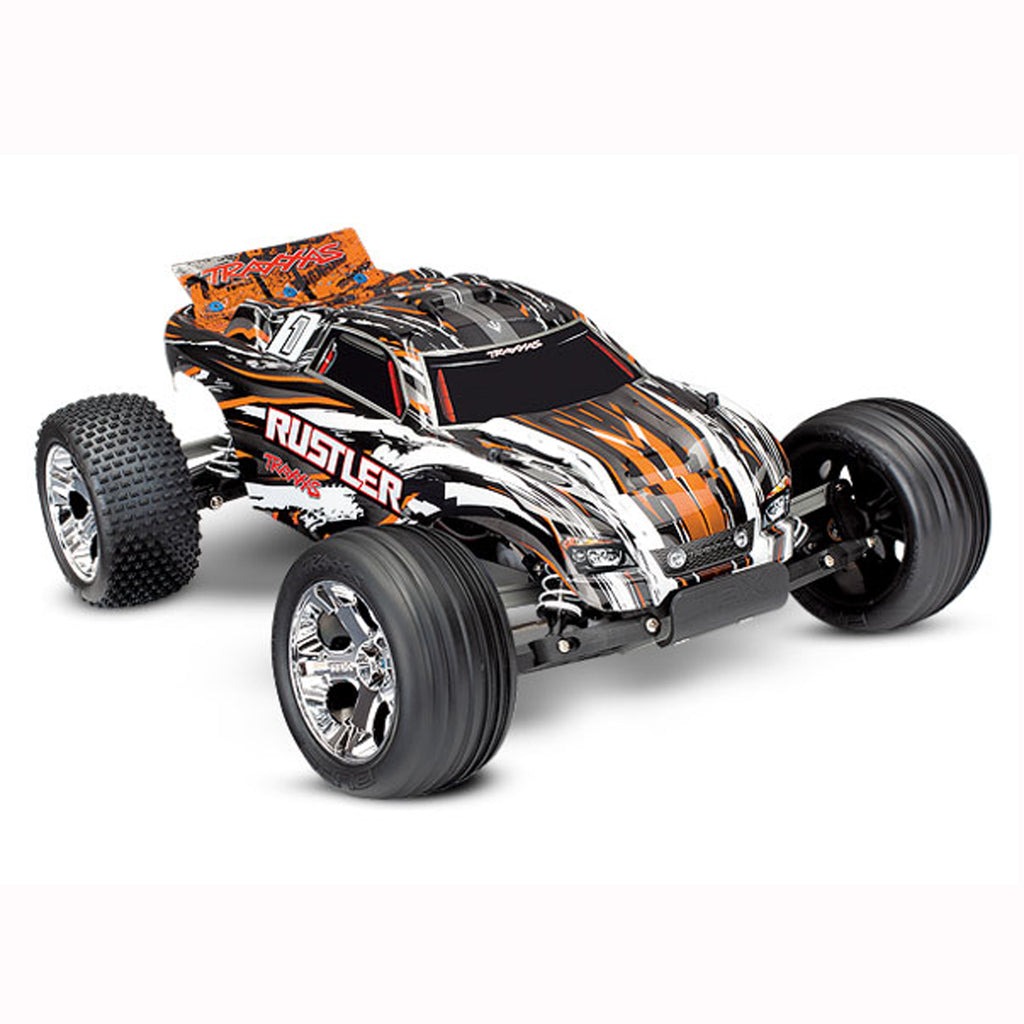 TRA37054-4-ORNG 37054-4 Rustler XL-5 2WD Stadium Truck RTR, Orange