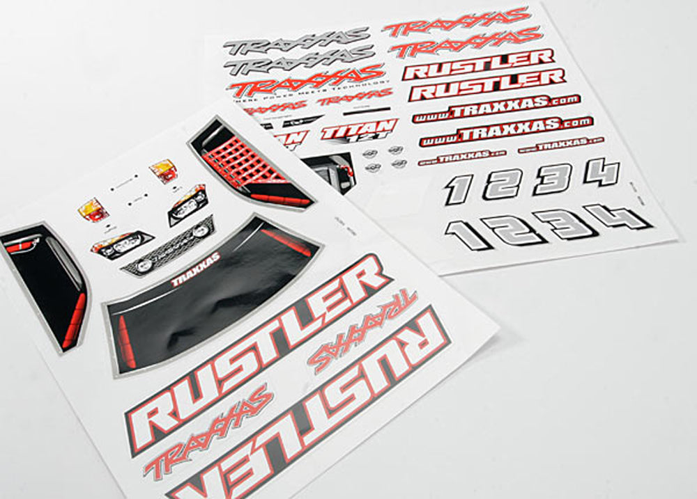 TRA3716 3716 Rustler Decal Sheets
