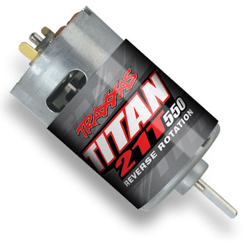 Traxxas Titan 21T Reverse Rotation Brushed 550 Motor, 3975R