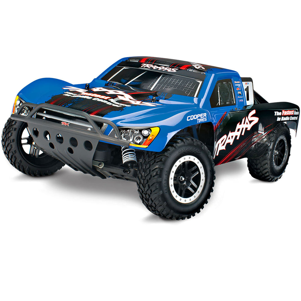 TRA44056-3-BLUE 44056-3 Nitro Slash 2WD Short Course Truck, Blue