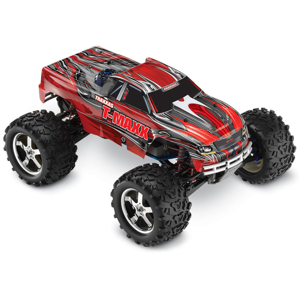 TRA49077-3-RED 49077-3 T-Maxx 3.3 Nitro 1/10 4WD Monster Truck, Red