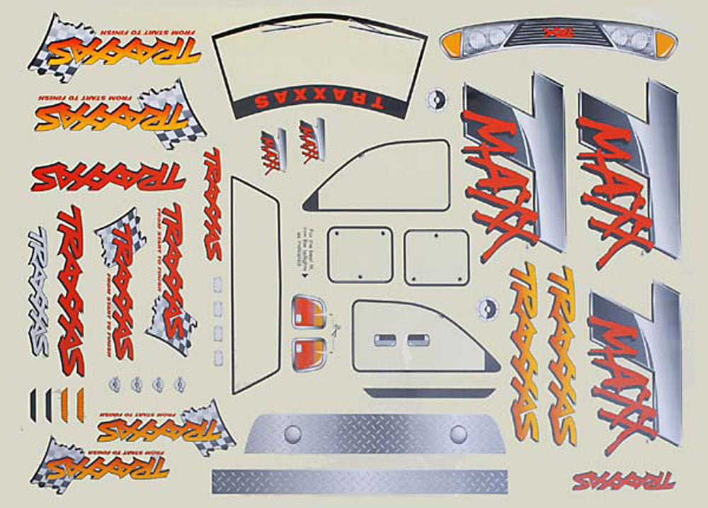 TRA4913 4913 T-Maxx Body Decal Sheet