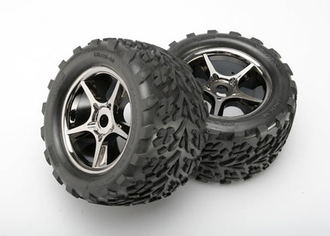 Traxxas Talon Tires, Gemini Wheels, Black Chrome, 5374X