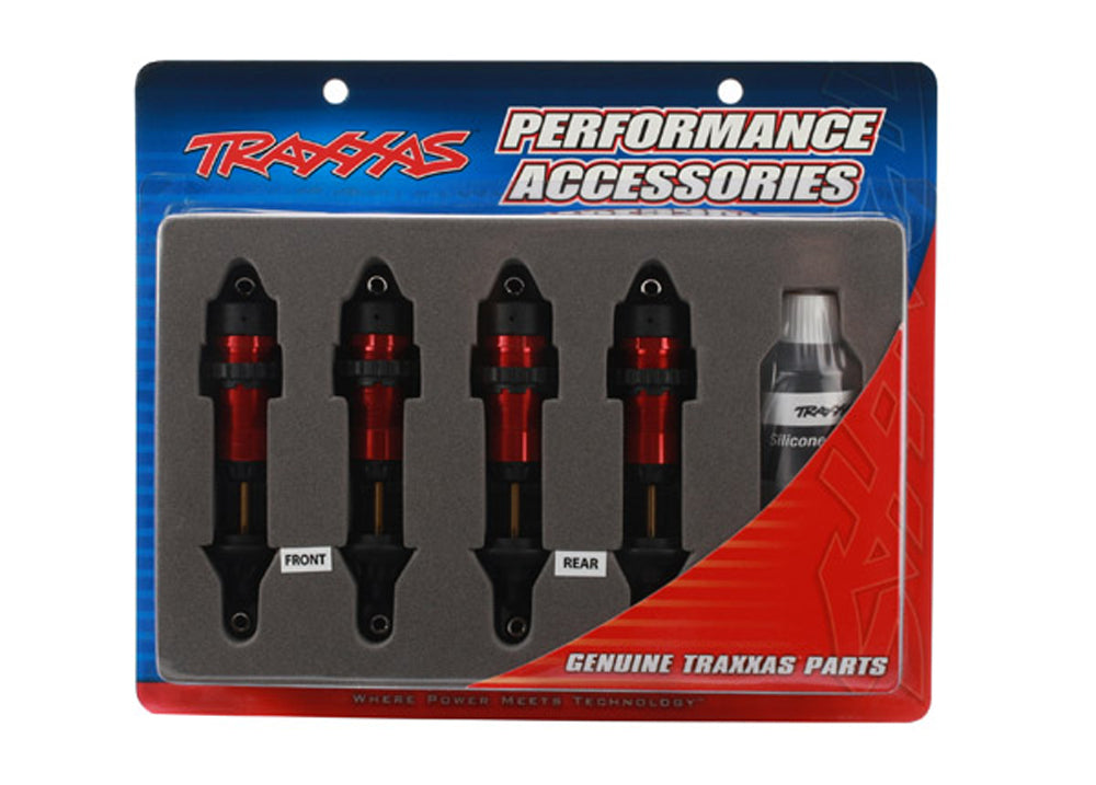 TRA5460R 5460R Aluminum GTR Shocks, Assembled, Red