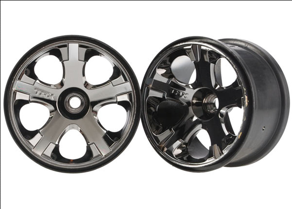"TRA5577A 5577A 2 Front All-Star 2.8"" Black Chrome Wheels - Nitro"