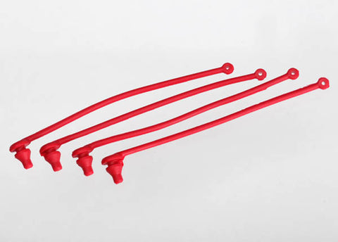 Traxxas 4 Body Clip Retainers - Red, 5752