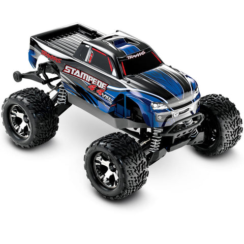 Traxxas Stampede VXL 1/10 4WD Monster Truck, Blue, 67086-4
