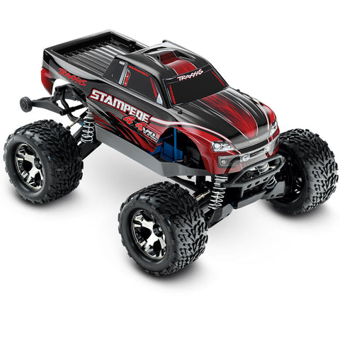 Traxxas Stampede VXL 1/10 4WD Monster Truck, Red, 67086-4