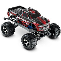TRA67086-4-RED 67086-4 Stampede VXL 1/10 4WD Monster Truck, Red