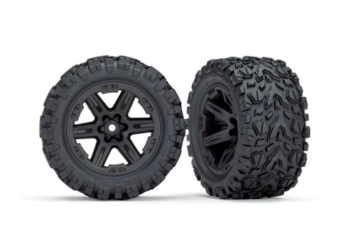 Traxxas Talon Extreme Tires, RXT Wheels, Black, 6773