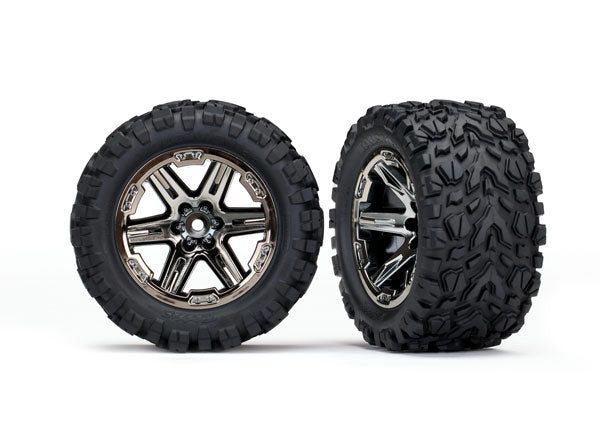 TRA6773X 6773X Talon Extreme Tires, RXT Wheels, Black Chrome