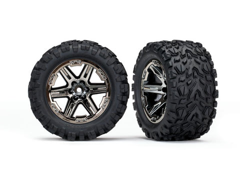 Traxxas Talon Extreme Tires, RXT Wheels, Black Chrome, 6773X