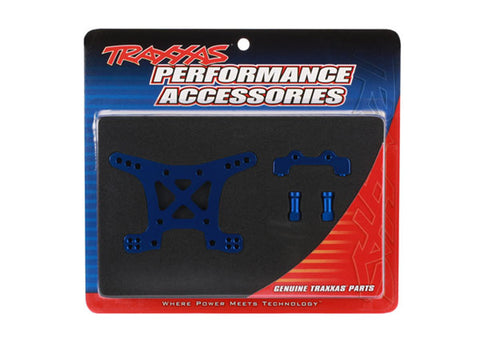 Traxxas Front Shock Tower, Blue Anodized Aluminum, 6839X