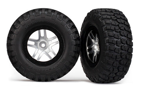 Traxxas Mud-Terrain Tires, SCT SS Wheels, Chrome, 6873