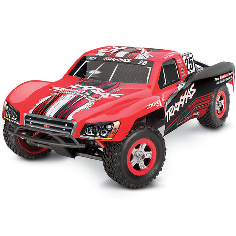 Traxxas Slash 1/16 4WD Truck, Mark Jenkins Red/Black #25, 70054-1-MARK