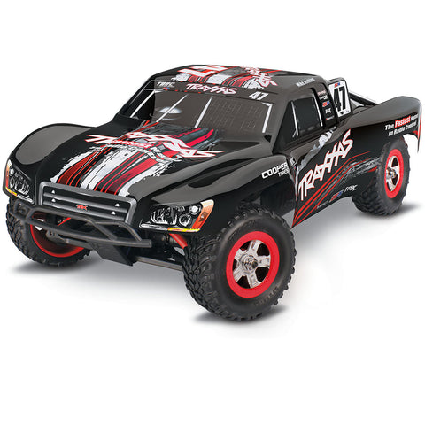 Traxxas 1/16 Slash 4WD Truck, Mike Jenkins Black/Red #47, 70054-1-MIKE