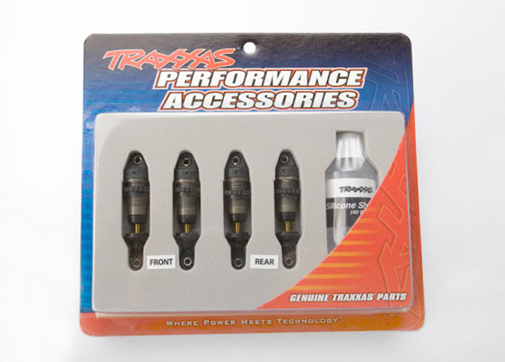 TRA7061X 7061X GTR Shocks, Hard Anodized-TiN Shafts
