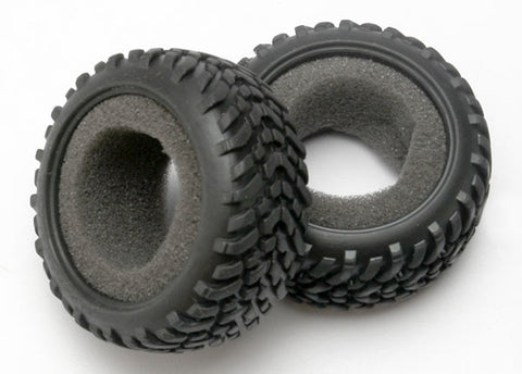 Traxxas 2 SCT Dual Profile Tires & Foam Inserts, 7071