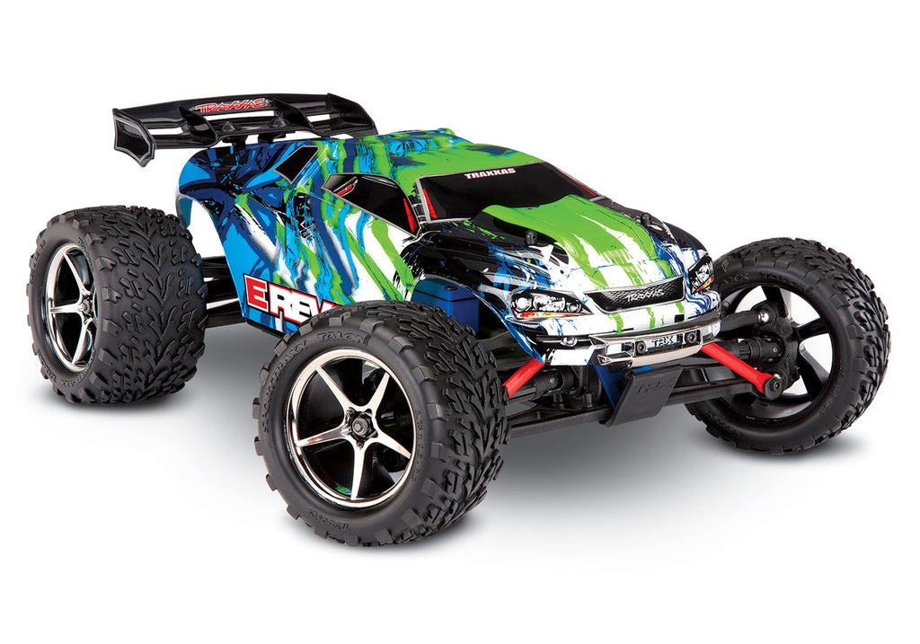 TRA71054-1-GRN 71054-1 E-Revo 1/16 4WD Monster Truck, Green