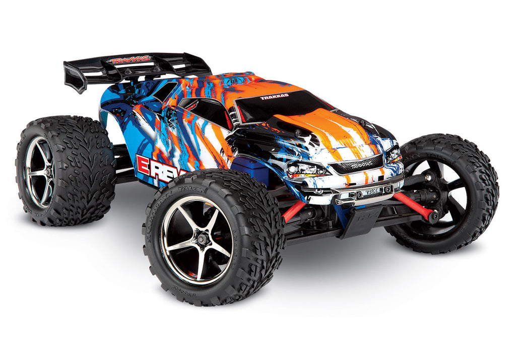 TRA71054-1-ORNG 71054-1 E-Revo 1/16 4WD Monster Truck, Orange