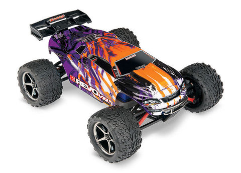 Traxxas E-Revo VXL 1/16 4WD Monster Truck RTR, Purple, 71076-3