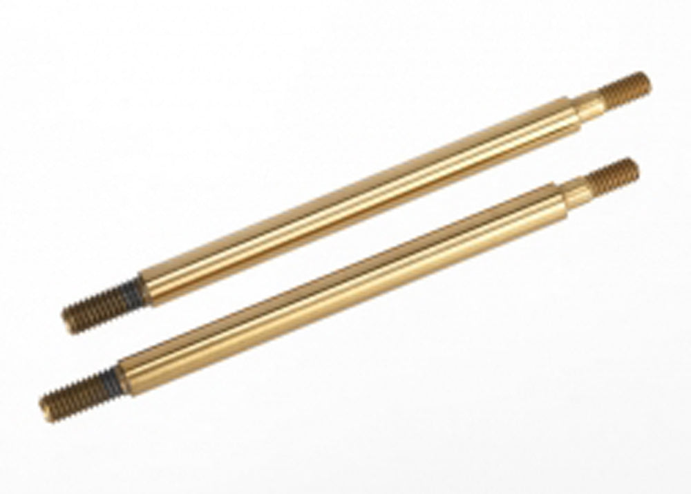 TRA7464T 7464T 2 GTR Shock Shafts - Long Tin-Coated