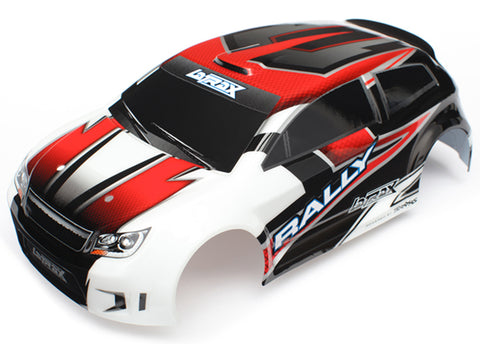 XRAY 1/18 LaTrax Rally Red Body, Decals & Clips