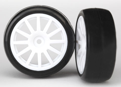 Traxxas LaTrax Slick Tires, 12-Spoke Wheels, White, 7572
