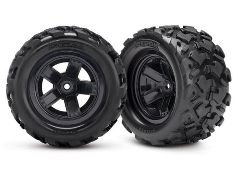 Traxxas Tires & 5-Spoke Wheels, 7672