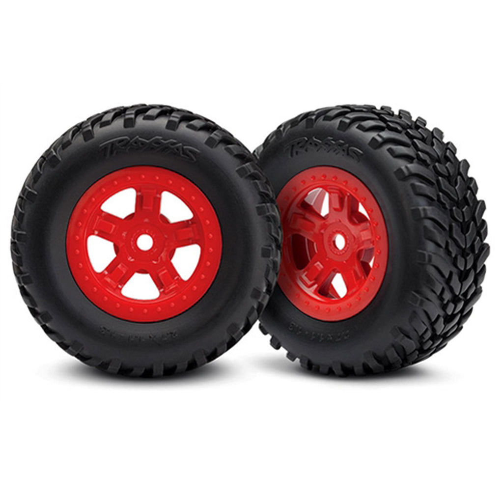 TRA7674R 7674R SCT Off-Road Racing Tires & SCT Wheels, Red