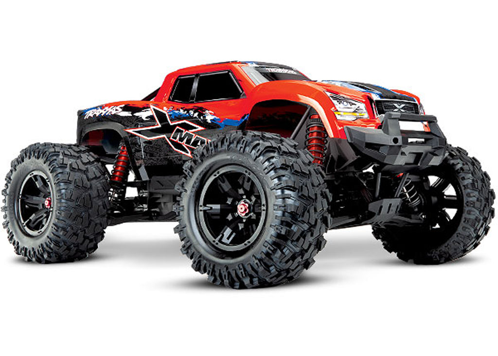 TRA77086-4-REDX 77086-4 X-Maxx 4WD Monster Truck, Red