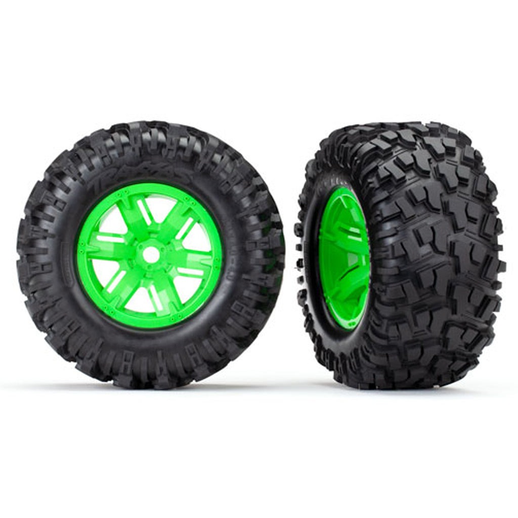 TRA7772G 7772G Maxx AT Tires, X-Maxx Wheels, Green