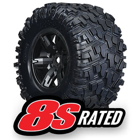 Traxxas Tires & Wheels, Black, 7772X