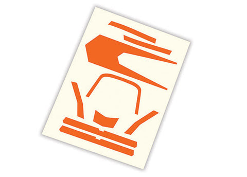 Traxxas 7982 Aton High Visibility Decals, Orange
