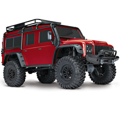 TRA82056-4-RED 82056-4-RED 1/10 Scale & Trail Defender Crawler, Red