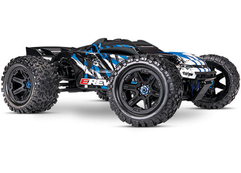 Traxxas E-Revo VXL Brushless 1/10 4WD Monster Truck, Blue, 86086-4