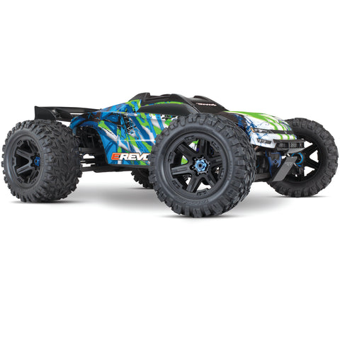 Traxxas E-Revo VXL Brushless 4WD Monster Truck, Green, 86086-4