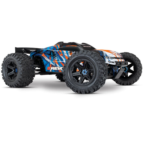 Traxxas E-Revo VXL Brushless 4WD Monster Truck, Orange, 86086-4