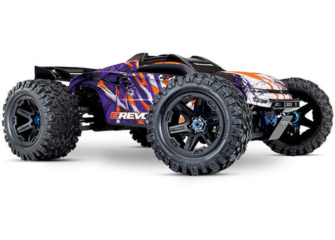 Traxxas E-Revo 1/10 VXL Brushless 4WD Monster Truck, Purple, 86086-4