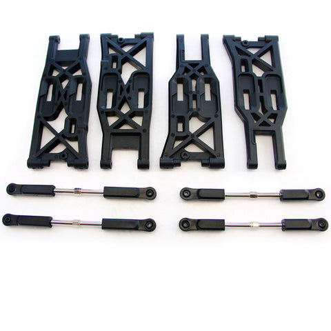 HPI Racing 1/8 Trophy Truggy 4.6 Front & Rear Suspension Arms, Turnbuckles & Ball Ends