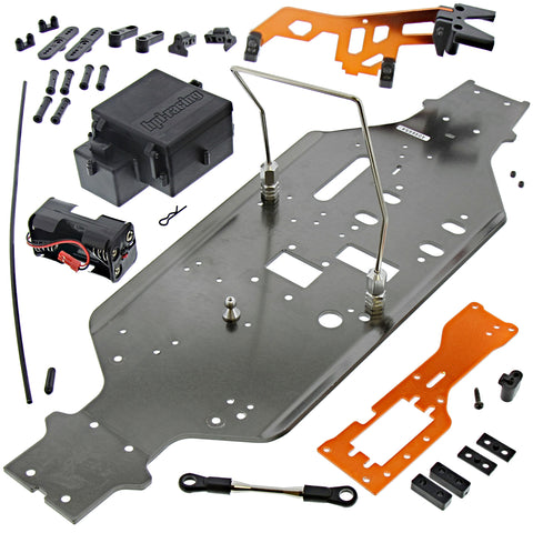 HPI Racing 1/8 Trophy Truggy 4.6 Chassis, Receiver Box, Center Roll Bar, & Mounts