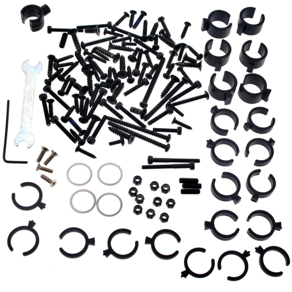 Truggy4.6 Screws 107014 130+ Piece Screw & Tool Kit with Shock Spacers & Wrenches