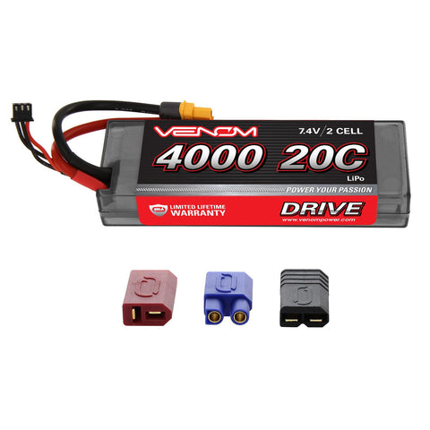 Venom Drive Series 2S LiPo Battery, 20C 4000mAh, 1554