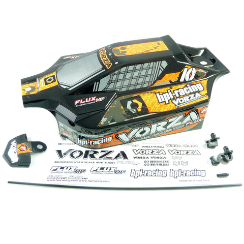 HPI Racing 1/8 Vorza Flux HP Black & Orange Body