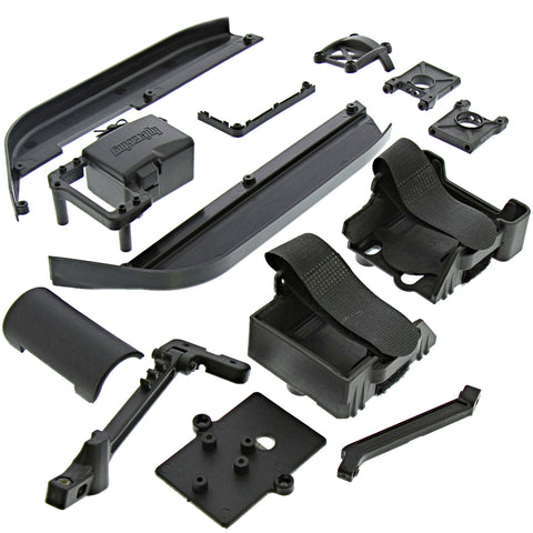 HPI Racing 1/8 Vorza Flux HP Side/Stone Guards, Mounts, & Electronics Trays
