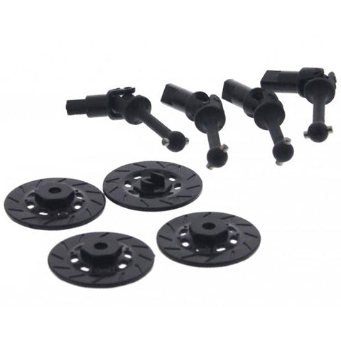 XRAY 1/18 LaTrax Rally Front & Rear Drive Shafts & 8mm Hex Wheel Hubs