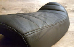 Paragon Moto Black Vintage Custom Cafe Racer Hump Seat with Upswept Tail for Honda Yamaha Suzuki and more