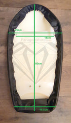 Bottom Measurements Paragon Moto Black Vintage Custom Cafe Racer Hump Seat with Upswept Tail for Honda Yamaha Suzuki and more